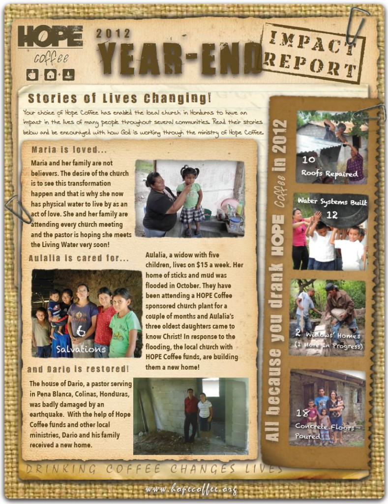 2012-Year-End-Impact-Report-of-HOPE-Coffee