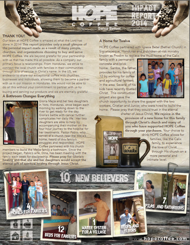 2014 HOPE Coffee Impact Report