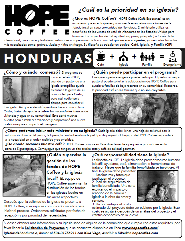 HOPE Coffee de Honduras