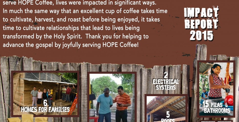 The Impact of the Gospel through HOPE Coffee in 2015