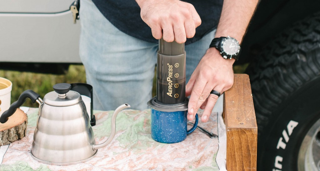 AeroPress Brewing Guide - Push