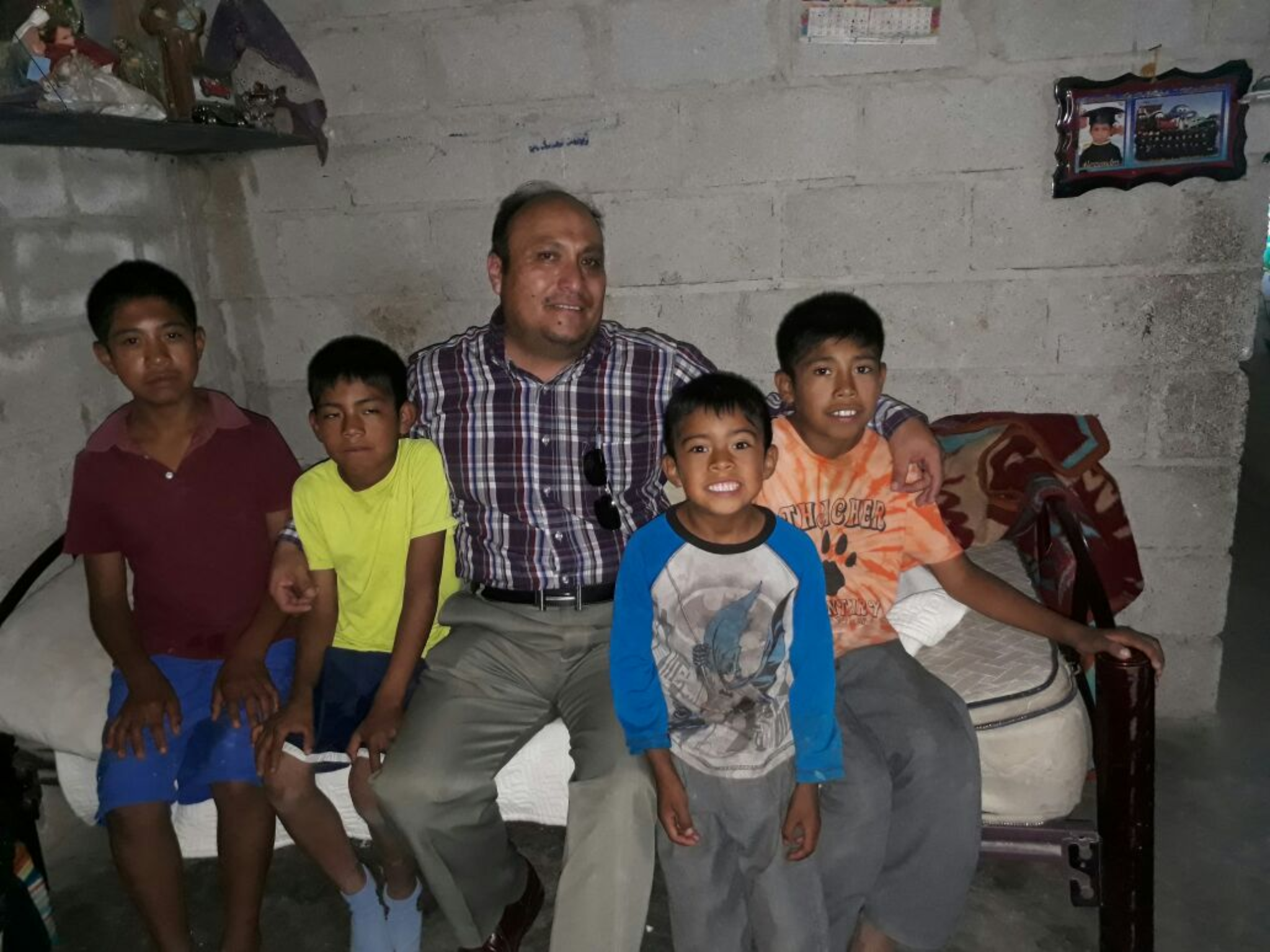 Pastor Ignacio Martinez with Mauricio and Tules Kids