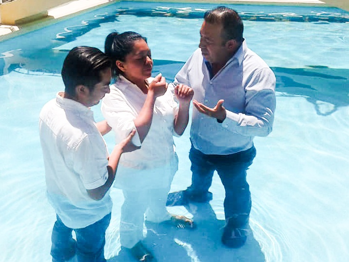 Marianaly being baptized