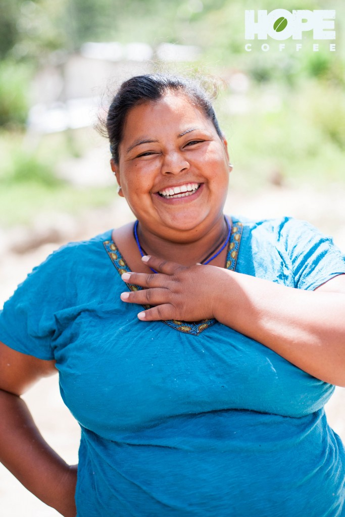 Through HOPE Coffee and a local pastor, God provided a bathroom facility for a Honduran family. This mom smiles brightly when talking about the difference having a private bathroom has made for her family.