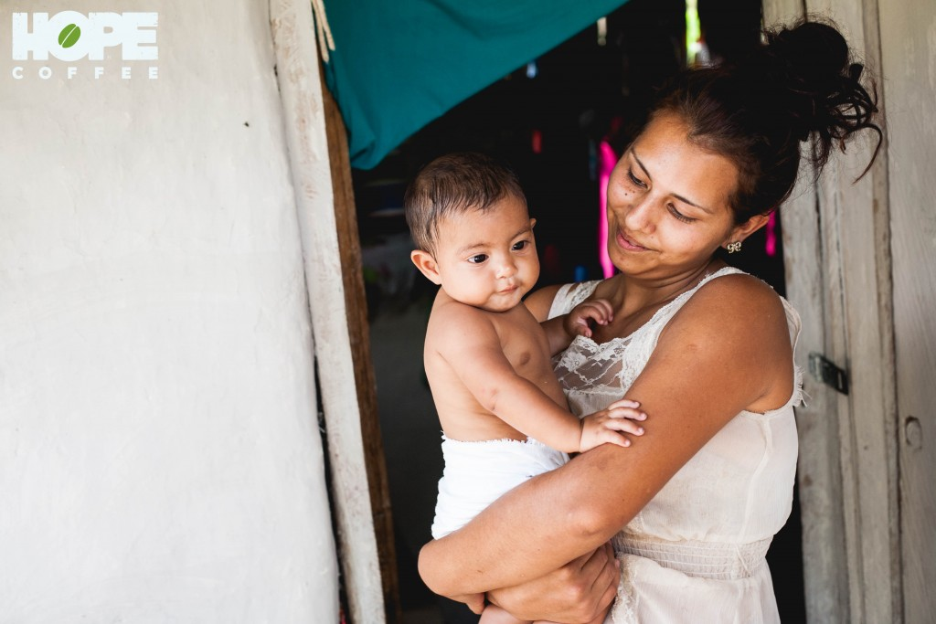This young mom in the rural community of Agua Salada takes care of her baby boy as her dad works in the fields during the day. Though the needs of this family are plentiful, the look on her face says she's blessed!
