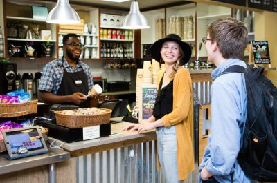 The HOPE Coffee shop on the campus of Dallas Theological Seminary (4005 Swiss Ave, Dallas, Texas 75204), is open Monday - Friday from 7:00 am - 5:00 pm.  It also stays open until 7:00 pm during the semester on Tuesday and Thursday evenings.   You can reach us at 972.685.3568.