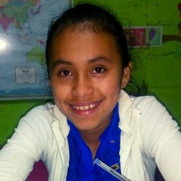 Aury is in 8th grade. She loves to play soccer and wants to be a high school teacher when she grows up.